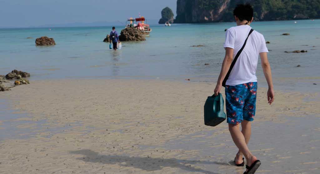 タイランドの海は綺麗